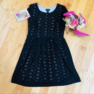 Adorable Black Eyelet Dress